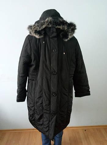 Пальто женское зимнее длинное очень большого размера DRAGON, фото 2