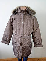 Пальто женское зимнее длинное очень большого размера DRAGON