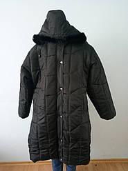 Пальто жіноче зимове довге великого розміру GEDA