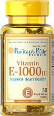 Витамин Е  Puritan's Pride Vitamin E-1000 IU 50 Softgels