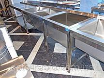 Мойка промышленная из нержавеющей стали 600/600/850 мм, фото 3