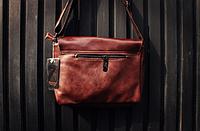 Мужская кожаная сумка. Модель 61350, фото 10