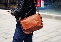 Мужская кожаная сумка. Модель 61350, фото 2