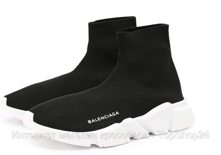 Кроссовки Balenciaga Speed Trainer Black/White, фото 1