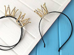 Обручи с короной, ушками