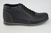 Мужские кожаные зимнике ботинки. Натуральный мех
