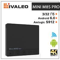 Смарт тв приставка Mini M8S Pro S912 3Г+32Г