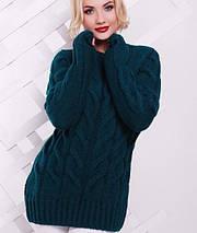 Удлиненный женский вязаный свитер (Kiki fup), фото 2