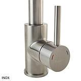 Кухонный высокий смеситель с гибким изливом Fabiano FKM 43C S/Steel, фото 3