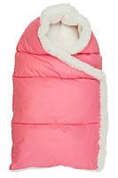 Конверт зимний на молнии Пуховичок размер S, розовый