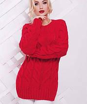 Удлиненный женский вязаный свитер (Kiki fup), фото 3