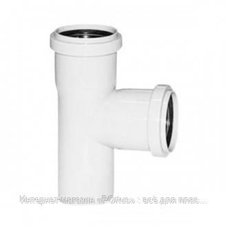 Тройник 32х32/90º ПП Инсталпласт с раструбом и уплотнительным кольцом для внутренней канализации, белый