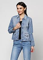 Джинсовая куртка женская Roza 100% хлопок S