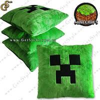 "Плюшевая подушка Minecraft - ""Creeper Pillow"" - 38 cм., фото 1"