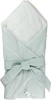 Одеяло-конверт хлопковое для новорожденных Руно 957ХБУ голубое