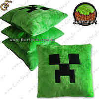 "Плюшевая подушка Minecraft - ""Creeper Pillow"" - 38 cм."