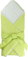 Одеяло-конверт хлопковое для новорожденных Руно 957ХБУ салатовое