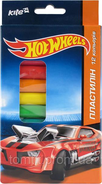 Пластилин мягкий Hot Wheels, 12 цветов