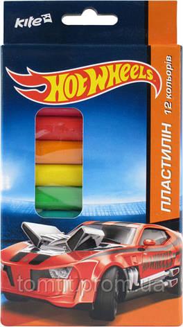 Пластилин мягкий Hot Wheels, 12 цветов, фото 2