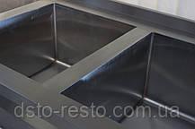 Ванна моечная 2-х секц. с бортом 1000/600/850 мм, фото 3