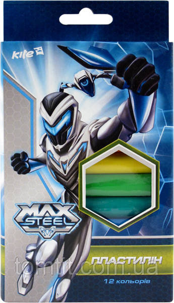 Пластилин мягкий Max Steel, 12 цветов