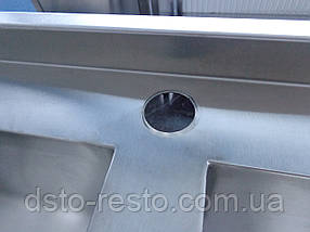 Мойка двухсекционная из нержавейки эконом 1200/600/850 мм, фото 3