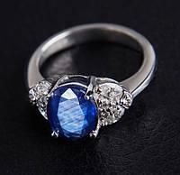 Золотое кольцо с сапфиром и бриллиантами С29Л1№37