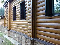 Фасады из металлосайдинга (блок-хаус)