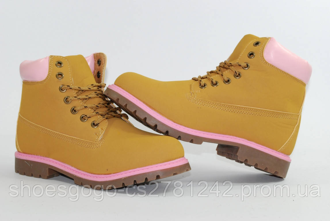 67dacc0e Женские демисезонные ботинки Timberland тимберленд. Розовый: продажа ...