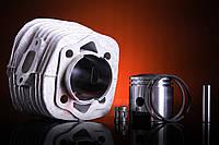 Цилиндр в сборе d=47mm  80 сс Веломотор ( China ) керамика