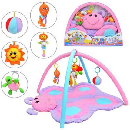 Развивающий коврик для малышей 898-11B Бабочка, фото 2