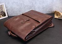 Мужская кожаная сумка. Модель 61358, фото 10
