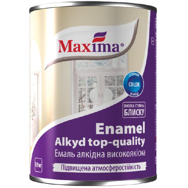 Эмаль алкидная высококачественная Maxima, вишневая 0,9 л