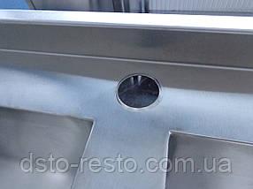 Ванна моечная из нержавеющей стали AISI 304 1200/600/850 мм, фото 3