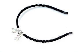 Велюровый ободок с серебряной короной
