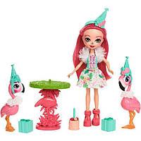 Игровой набор Праздник Фламинго и Фламинго Фэнси Энчантималс / Enchantimals Let's Flamingle Dolls