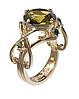 """Кольцо """"Бахтигюль"""" покрытое золотом (r601p0ko), фото 2"""