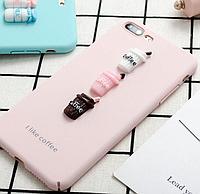 Силиконовый 3d чехол Coffee для Iphone 6/Iphone 6s