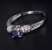 Золотое кольцо с сапфиром и бриллиантами С34Л1№1