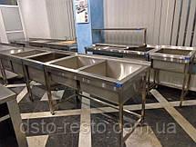Мойки промышленные для столовых 1300/700/850 мм, глубина 400 мм, фото 2