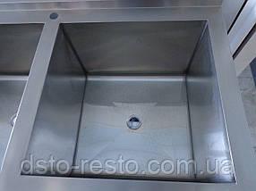 Ванна моечная трехсекционная из нержавейки 1800/600/850 мм, фото 3