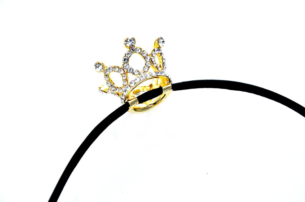 Красивая корона на шелковом ободке