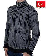 Вязанный мужской кардиган.Теплая мужская кофта на зиму.
