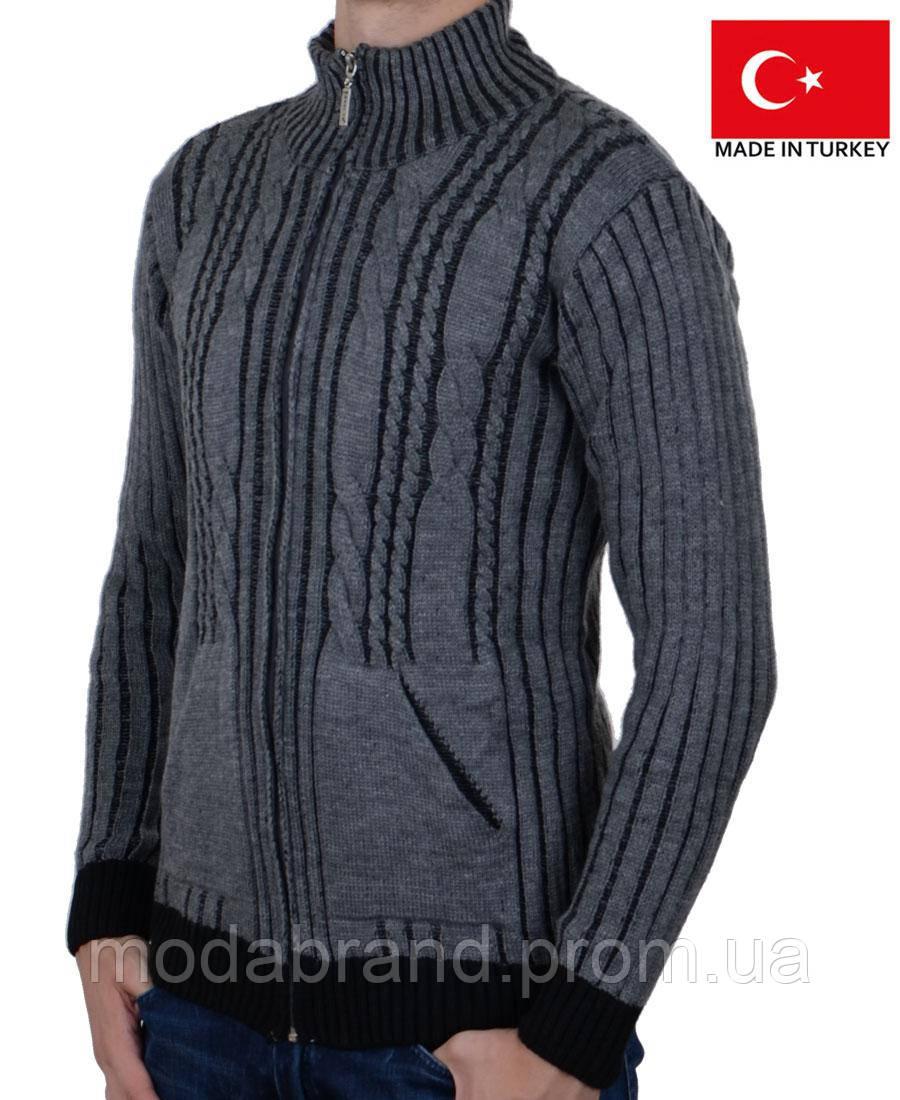 95c9fe8e01c9c Вязанный мужской кардиган.Теплая мужская кофта на зиму.: продажа ...