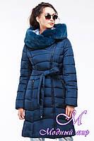 Женская длинная зимняя куртка с капюшоном (р. 42-56) арт. Альмира 2