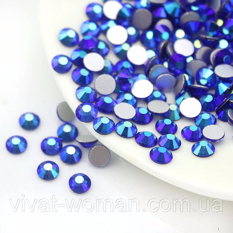Стразы Sapphire AB SS12 (3,0-3,2 мм) холодной фиксации. Цена за 144 шт