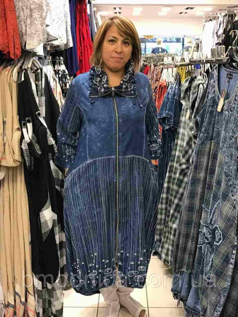 4ca5903f13f Джинсовое платье большого размера длинное Турция