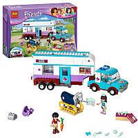 """Конструктор Bela Friends 10561 """"Ветеринарная машина для лошадок"""" (аналог LEGO Friends 41125), 387 дет"""