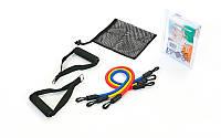 Набор эспандеров для фитнеса Resistance Band 308-3: 3 резиновых жгута различной жесткости + 2 рукоятки