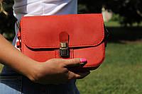 Кожаная женская сумка кросс-боди LILI. Ручная работа, фото 1